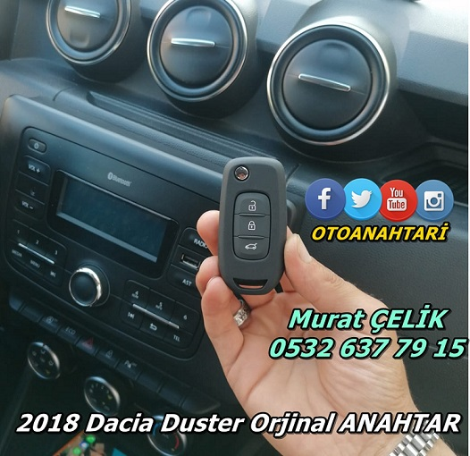 2018 model Dacia Duster Anahtar