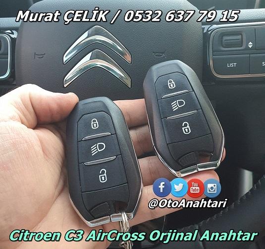 Citroen C3 AirCross Orjinal Anahtar